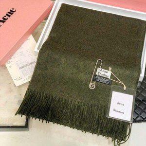 Acne studios Dark green wool scarf